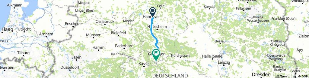 Etappe 1: Hannover-Sutelstr. nach Friedland