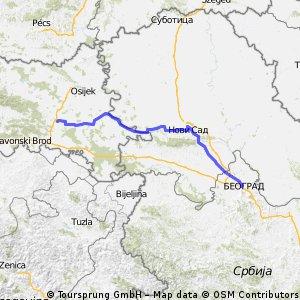 6. Etappe: Dakovo - Belgrad