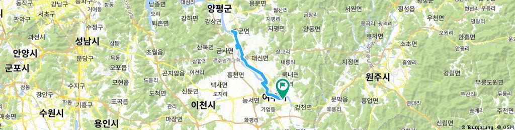 Long bike tour through Yeoju-si
