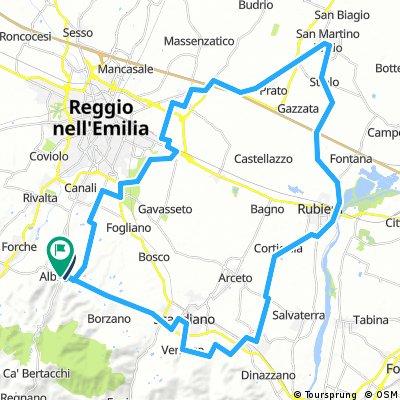 Percorso HB e Corto Granfondo km 62- 200m disl.
