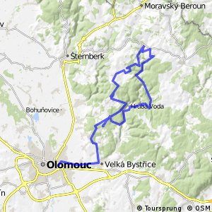 Cycling routes and bike maps in and around Olomouc Bikemap Your