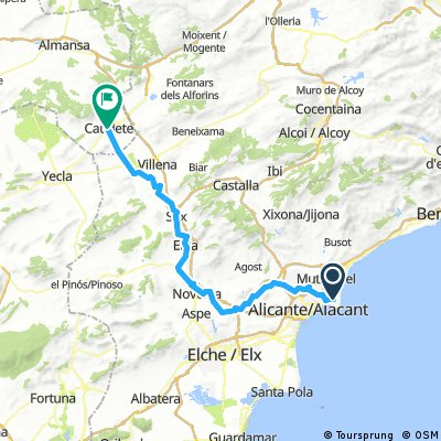 1/2 Cicloturismo C. Santiago SE - Playa S. Juan Alicante - Caudete