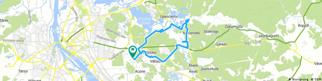 Long bike tour through Dreiliņi