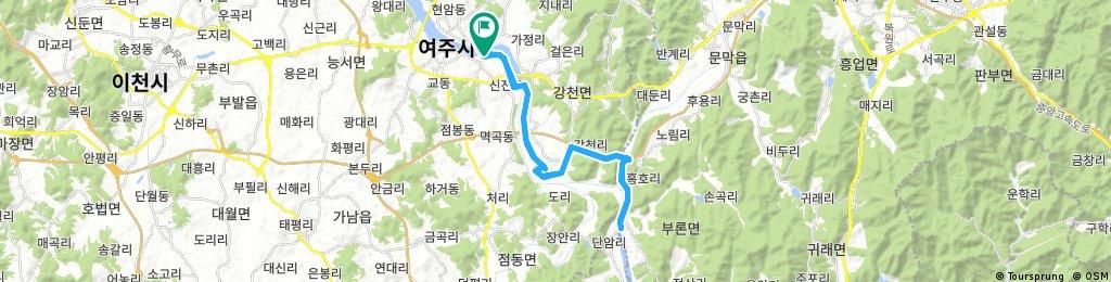 Lengthy ride upstream from Yeoju-si