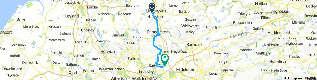 Haslingdon to Whitefield