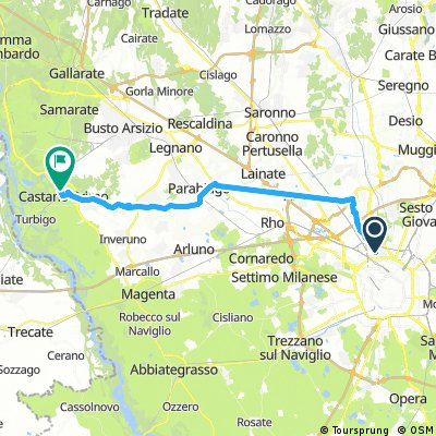 bike tour through Castano Primo