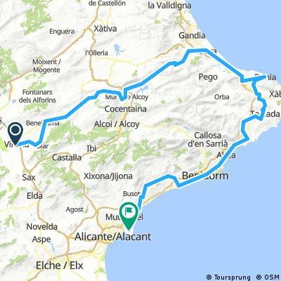 Cicloturismo Villena - Denia - Playa San Juan
