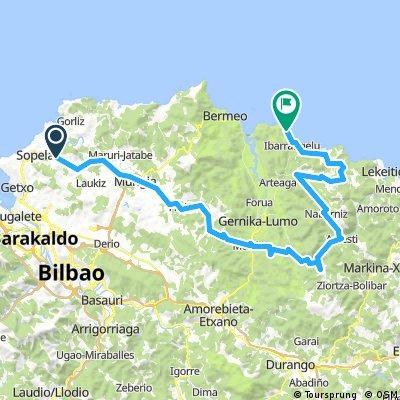 Urduliz-Mujika-Aulestia-Nabarniz-Ereño-Ea-Natxitua- Elantxobe 77km