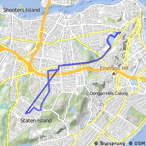 Cycling routes and bike maps in and around Staten Island Bikemap