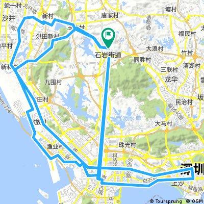 Birthday Eve night ride through Shenzhen