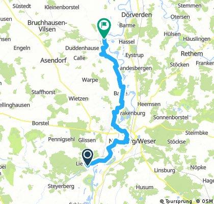Weser Radtour Liebenau nach Hoya