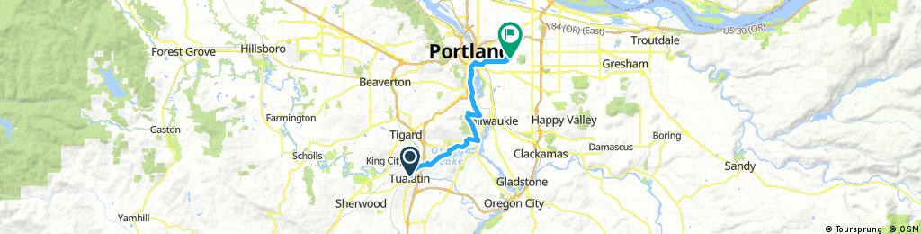 Tualatin to Downtown Portland