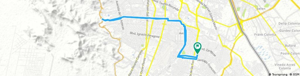 Lengthy bike tour from 8 de octubre 7:27 AM