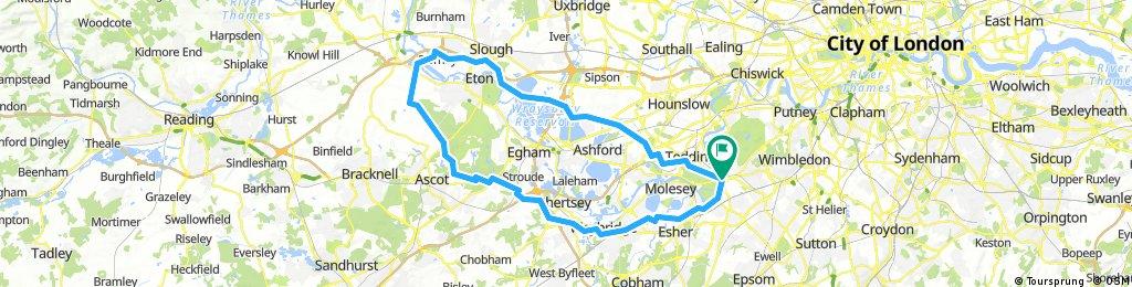 Challenge ride to Dorney
