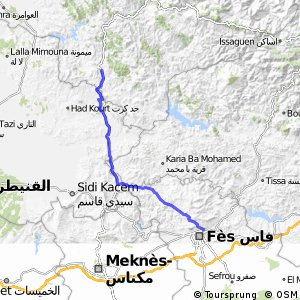 Cycling routes and bike maps in and around Fes Bikemap Your bike