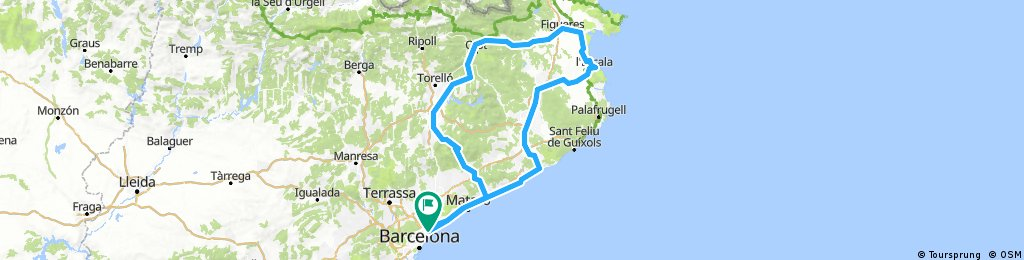 Barcelona Route Map, Version 2