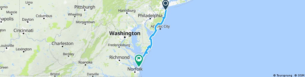 2. Deux roues sur l'eau - New Jersey - Chesapeake Bay Bridge Tunnel