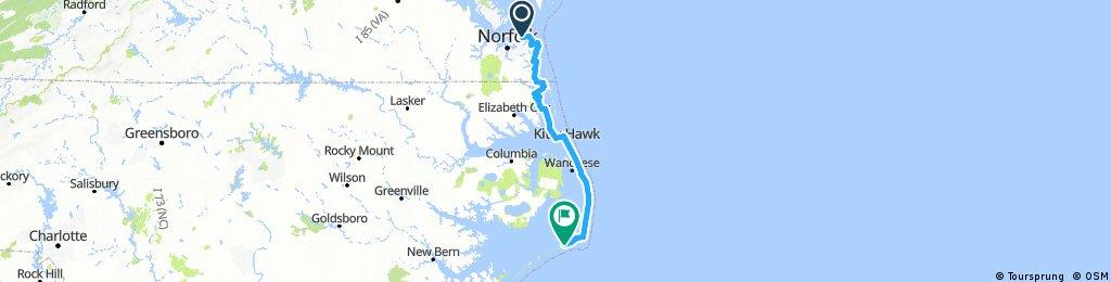 3. Deux roues sur l'eau - Chesapeake Bay Bridge Tunnel - Hatteras