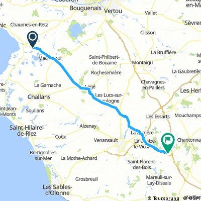 Villeneuve en Retz à Bournezeau