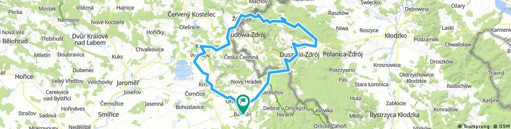 Bačetín -Číhalka -Duszniky Zdrój -Karlow -Pstražná -Běloves -Nové Město n.Met.