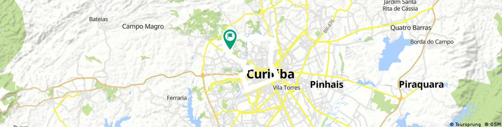 Long bike tour through Curitiba