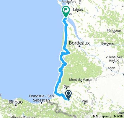 ETAPE 6 : Autevielle - Le Verdon sur Mer