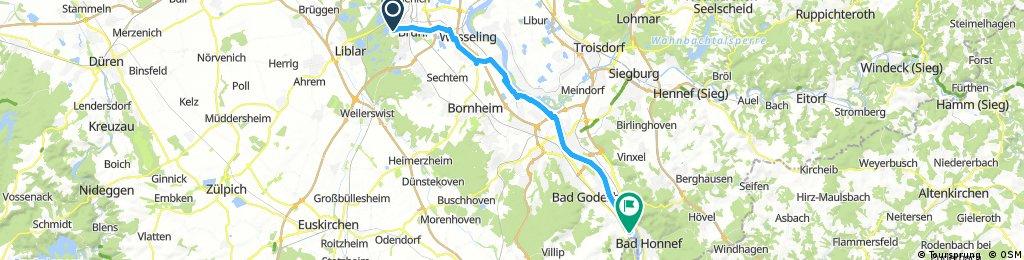 Camping Heider Bergse to Camping Genienau Bonn