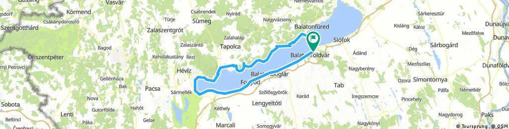 Balaton félkör Keszthely felé