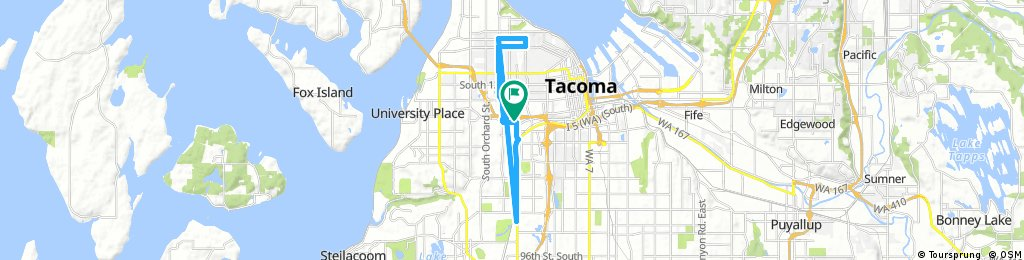 ride through Tacoma