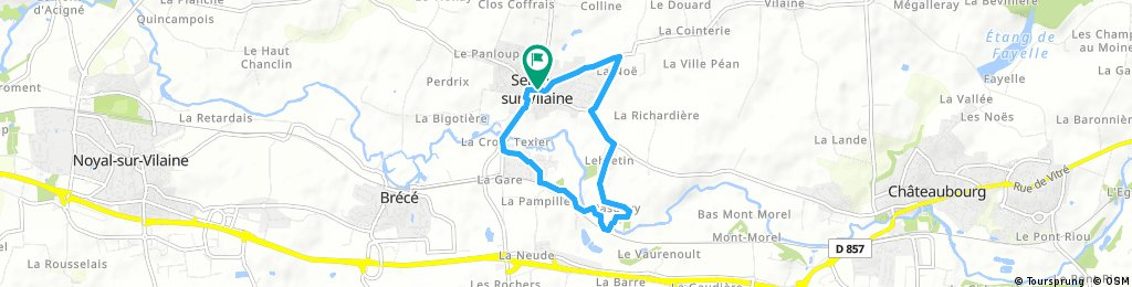 Quick bike tour through Servon-sur-Vilaine