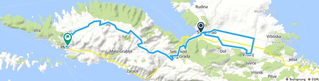 Long bike tour through Hvar