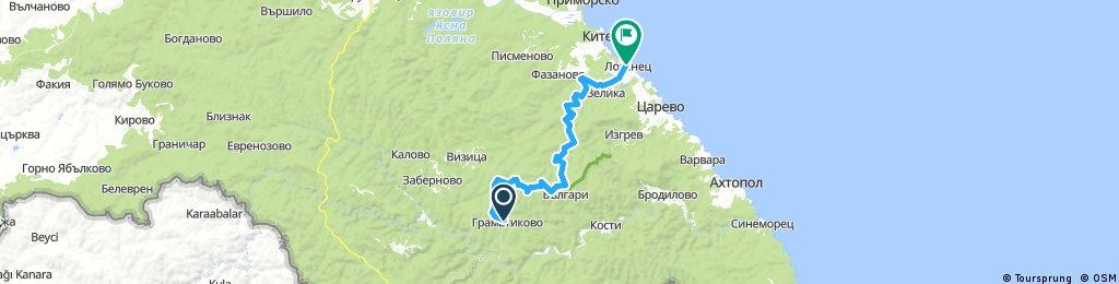 Long bike tour through Tsarevo