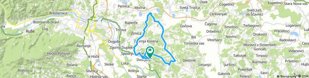 Lengthy bike tour through Duplek