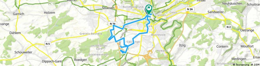 Long bike tour through Luxembourg