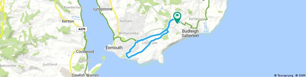 Budleigh-Exmouth-Budleigh loop