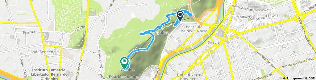 Cerro San Cristóbal, Pedro de Valdivia
