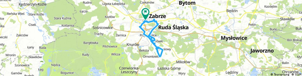 Long ride through Gliwice