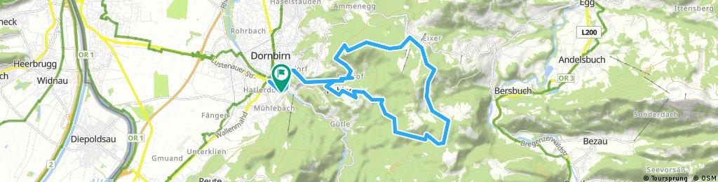 Dannerbruck-Bühla Alp-Gräsa-Bregenzer Hütte-Bödele-Schwende-Eisenharz-Dannerbruck