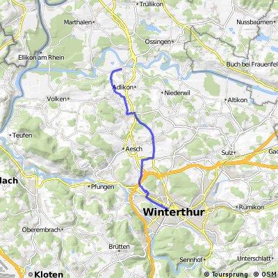 Winterthur - Andelfingen auf Velowegen