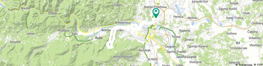 Košaki - Laznica - Dom Pečke - Log - Bistrica ob Dravi - Limbuš - MB