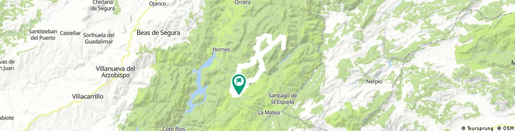 Sierra de Segura: Pontones, Huelga Utrera, Puntal de La Misa, Río Madera, Pontones