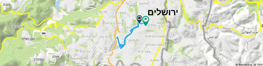 Short ride through Jerusalem