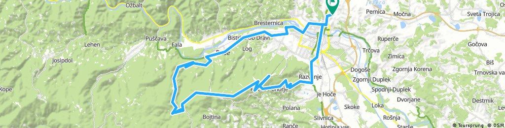 Košaki - Pivola - Bellevue - Areh - Veliki Šumik - Smolnik - Ruše - MB