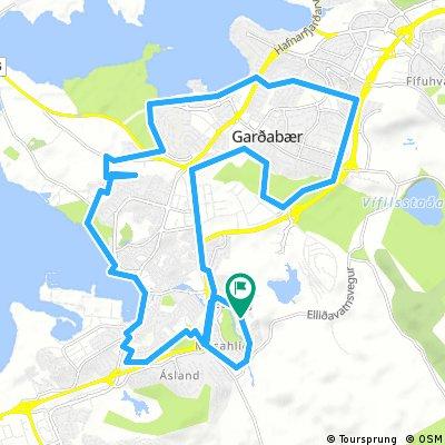 ride through Hafnarfjörður+Garðabæ