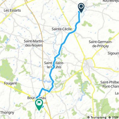ride through Bournezeau (Grégoire)