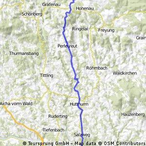 Neuschönau nach Passau