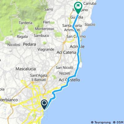 catania-acireale 25 km