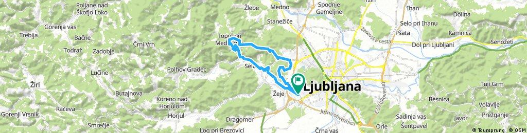 ride through Ljubljana