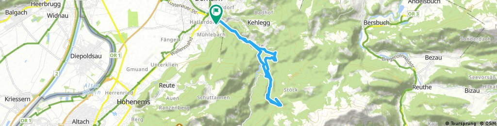 Dannerbruck-Amannsbruck-Kobel-Rappenloch-Dannerbruck