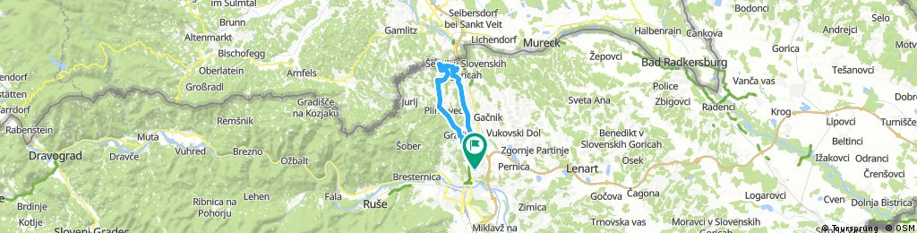 Košaški dol - Sp.Dobrenje - Kresnica - Grassnitzberg-Weinstrasse - Plački vrh - Plač - Zg. Kungota - Košaki